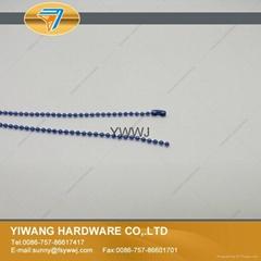 质量保证金属彩色波珠链 标牌挂链 环保标牌珠链批发 深蓝色