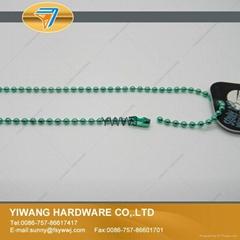 厂家定制金属波仔链 波珠链 彩色珠链 铁珠链 高质金属珠链