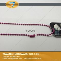 彩色金属珠链 吊牌线 吊牌绳 挂商标吊牌 手穿子母扣