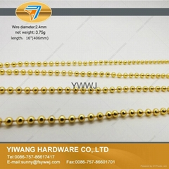 厂家直销批发 金属珠链吊牌绳 不褪色 镀镍 金属饰品链