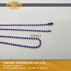 厂家直销批发高品质 金属珠链吊牌绳 镀镍不褪色 金属饰品链