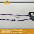 厂家直销批发高品质 金属珠链吊牌绳 镀镍不褪色 金属饰品链 5