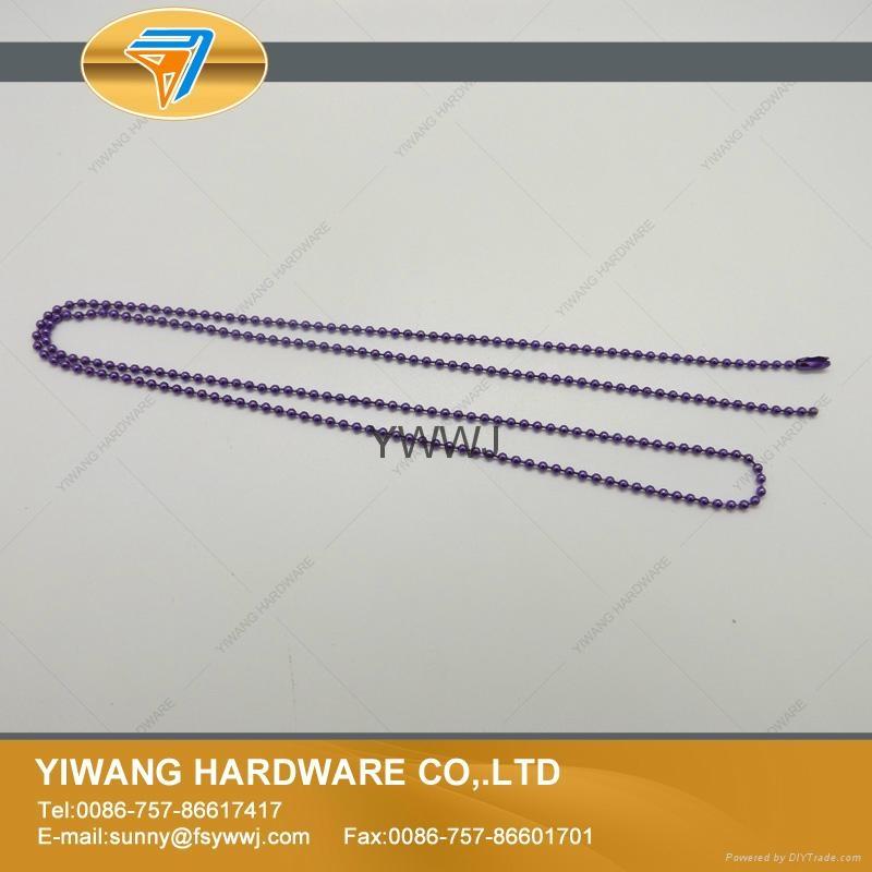 厂家直销批发高品质 金属珠链吊牌绳 镀镍不褪色 金属饰品链 6