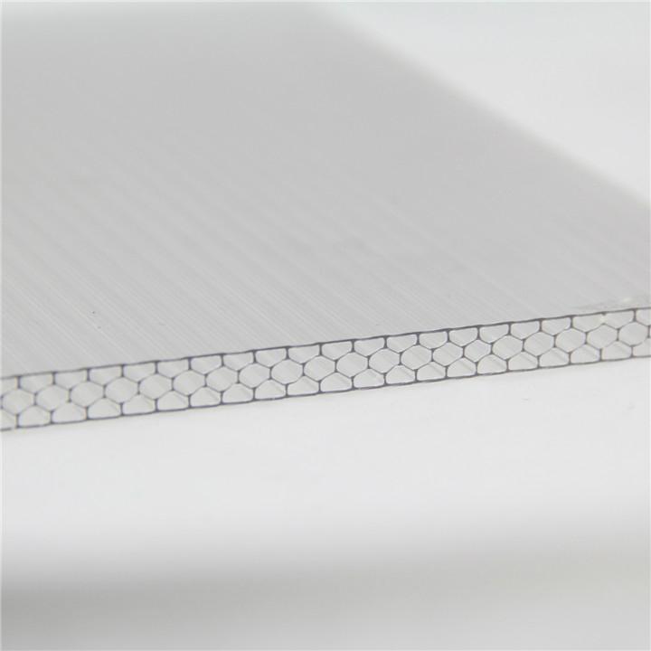 Pc Hollow Flat Sheet Plastic Honeycomb Panel Polycarbonate Panel 5