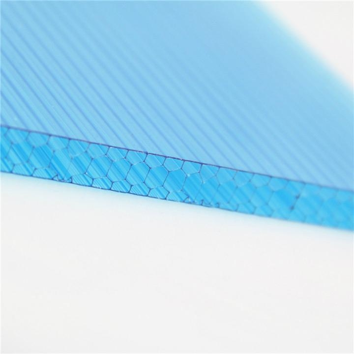 Pc Hollow Flat Sheet Plastic Honeycomb Panel Polycarbonate Panel 4