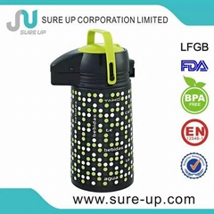 Hot sell metal body glass liner airpot(AGUH)