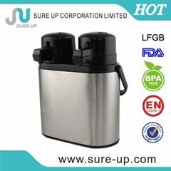 Metal body double body twin glass airpot (AGUV)
