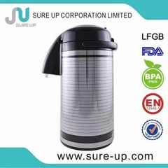 Good quality thermo double wall glass coffee pot (AGUT)