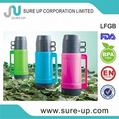 Glass liner double wall thermo flask