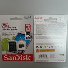 SanDisk 128GB Ultra Micro SDXC USH 1 Class 10 80Mbs