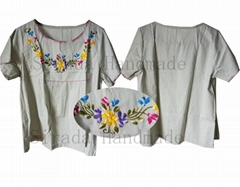 Hand embroidered casual dress