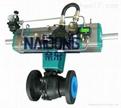 油库专用FBVAA系列二段式气动球阀-奈东阀门