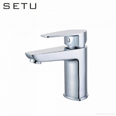 China sanitary ware high quality cheap price solid brass chrome basin faucet lav