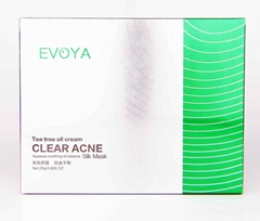 Whole Sale Oil Balance Facial Mask 25g 6pcs Tea Tree Oil Clear Acne Silk Mask