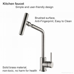 High grade good price nice design hot and cold water tap for kitchen modern fauc