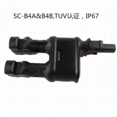 MC4连接器  TUV认证 IP67 B4C/B4D