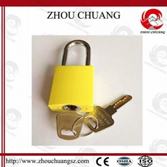 Stainless Steel Shackle Aluminum Body Colorful Plated GPS Padlock