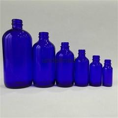 透明 琥珀色 蓝色 波斯顿玻璃瓶
