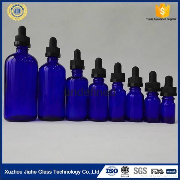 棕色 透明 绿色 蓝色 精致玻璃精油瓶 5