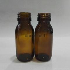 30毫升60毫升藥用棕色糖漿口服玻璃瓶