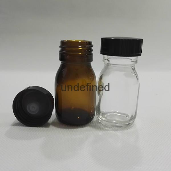 30毫升60毫升藥用棕色糖漿口服玻璃瓶 3