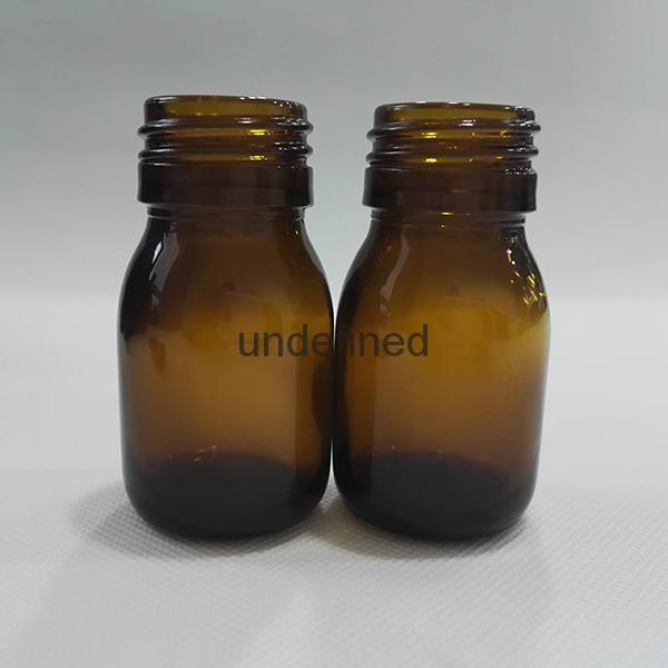30毫升60毫升藥用棕色糖漿口服玻璃瓶 4