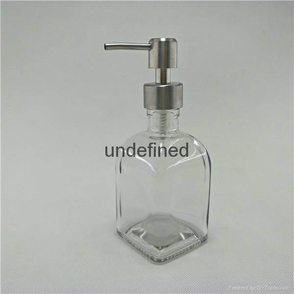 250ml毫升方乳液瓶配不鏽鋼泵頭 3