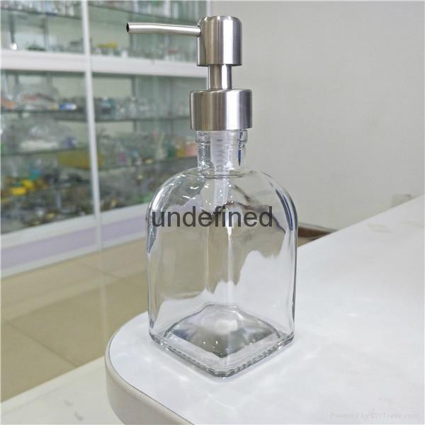 250ml毫升方乳液瓶配不鏽鋼泵頭 1