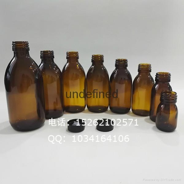 口服液糖漿輕量玻璃瓶配防盜蓋 1