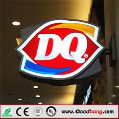 Chain Store Front Sign LED Acrylic ABS