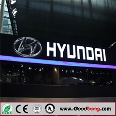 New Frontlit and Backlit Vacuum Forming LED Car Brands Logo