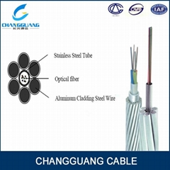 Over head composite fiber optic cable ground wire