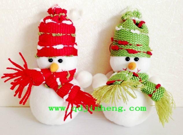 10CM stuffed snowman