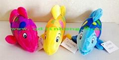 stuffed bubble fish in three diffrent color
