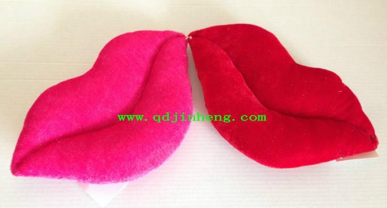 red and pink lips stuffed