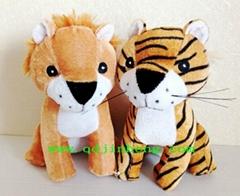 18CM坐姿填充狮子和老虎