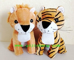 18cm stuffed lion and tiger for sale