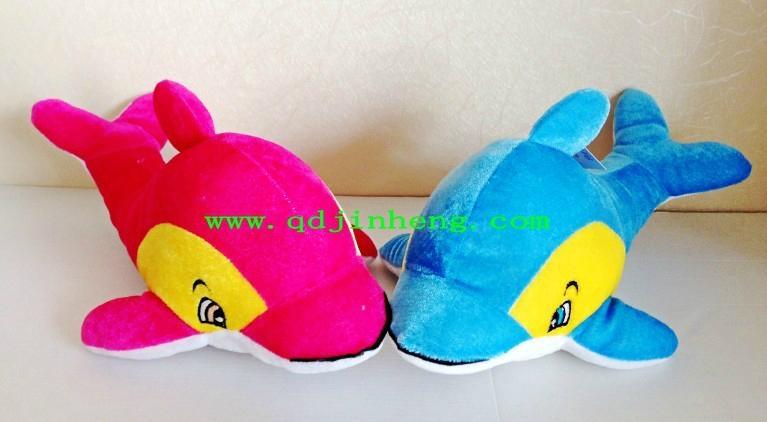 藍色和粉色填充海豚 1