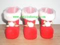 5cm植绒塑料圣诞靴子饰品 1