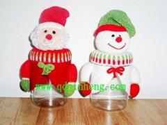 塑料瓶配圣诞动物头