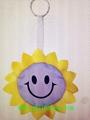 紫色太陽花鑰匙環挂件