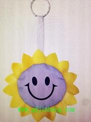 紫色太阳花钥匙环挂件