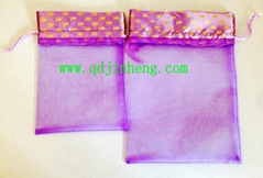 silk drawstring bags in diffrent color and size