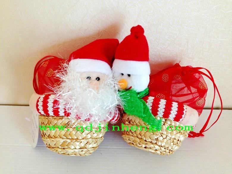 christmas stuffed with basket