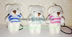 6cm tiny bear with vest mobile phone chain