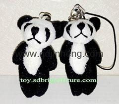 6cm stuffed tiny panda for keys