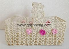 handmade square basket