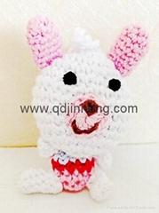 totally handmade white rabbit stuffed
