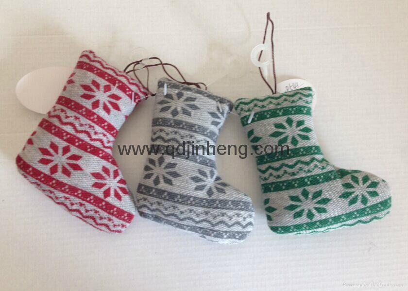 hanging stuffed boots decoration
