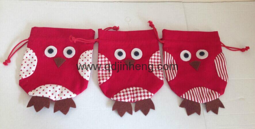 drawstring cotton bags with parrot design